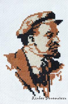 Cross Stitch Lenin in the style of pop-art. от LiubovPonomareva