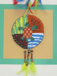 4th grade Native American Shield art lesson, with complementary ...