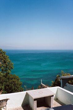 Cafe Hafa, Tanger, Marruecos Una terraza con unas vistas inmejorables para tomarse un té
