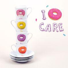 Tazas de café diseño Donuts. I donut care #tazas #cocina #accesorios #cafe
