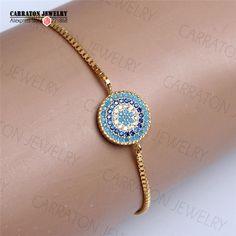 Genuine 925 Sterling Silver Ornate Design cz Paved Turkey Good Luck Hamsa Evil Eye Charm Bracelet