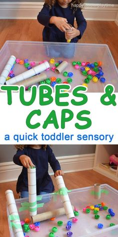 A super easy to set up, inexpensive and crazy fun activity! It only requires 3 supplies and two of them are from your recycling bin! Indoor activities for kids Toddler Learning Activities, Games For Toddlers, Indoor Activities, Infant Activities, Preschool Activities, Kids Learning, Montessori Toddler, Learning Games, Activities For One Year Olds