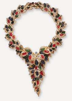 The Jewel Closet: A RUBY, SAPPHIRE, EMERALD AND DIAMOND NECKLACE