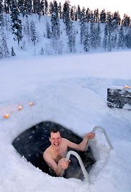 How to survive Finland in the winter. (You can be sure most of us are not that brave!)