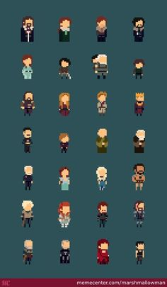 Game Of Thrones Characters 8-Bit Line Up