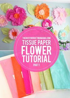 Giant Tissue Paper Flower VIDEO Tutorial