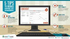 5 tips para evitar en abandono de carritos en tu tienda online #infografia #infographic #ecommerce