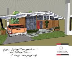 mid-century ranch | Mid-century modern landscaping: The first in a special series - Retro ...