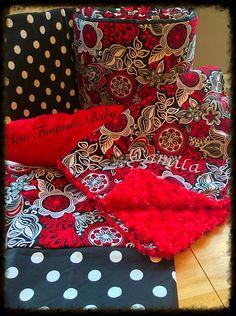 Custom crib bedding!!!!! Check out Facebook.com/sewfantasticbaby or email sewfantasticbaby@yahoo.com