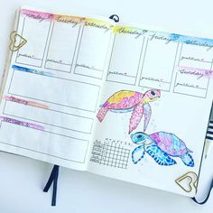 "1,011 Likes, 7 Comments - Planner Inspiration (@showmeyourplanner) on Instagram: ""This #weeklyspread from @bujo_maniac makes me want to snorkeling in Hawaii. #Repost @bujo_maniac…"""