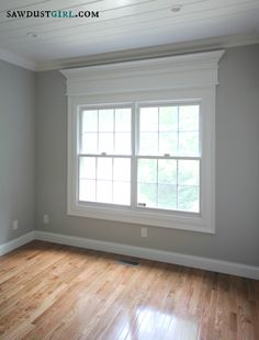 REFRESHERS:: WINDOWS: MOLDING ~~ door and window trim molding with a cross header @Sandra Pendle Pendle Pendle Powell {Sawdust Girl}