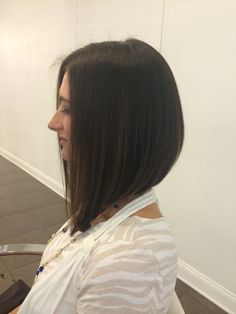 Drastic angled bob by Taylor Silas at Mirabella Salon