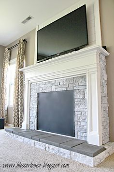 Stone For Fireplace diy stone fireplace with airstone | airstone, dark colors and dark