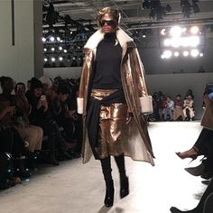 Gilded shearling @nicholaskstudio first show #nyfw #frontrow  via MODERN LUXURY MAGAZINE OFFICIAL INSTAGRAM - Luxury  Lifestyle  Culture  Travel  Tech  Gadgets  Jewelry  Cars  Gaming  Entertainment  Fitness