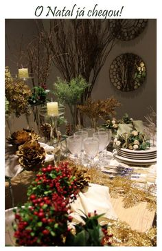 Com o brilho do natal  |  Anfitriã como receber em casa, receber, decoração, festas, decoração de sala, mesas decoradas, enxoval, nosso filhos