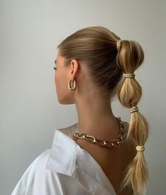 Hair Inspo, Hair Inspiration, Lange Blonde, Bubble Ponytail, Fancy Ponytail, Braid Ponytail, Good Hair Day, Aesthetic Hair, White Aesthetic