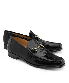 9f6746eefe5 These men s classic bit loafers are expertly crafted in genuine American  alligator. Featuring full leather lining and leather soles.