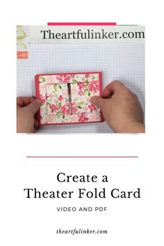 Dressed to Impress Theater Fold Card Learn how to create a Theater Fold Card. Stampin' Up! Dressed To Impress birthday card. Fun Fold Cards, Folded Cards, Cool Cards, Cards To Make, Joy Fold Card, Making Cards, Card Making Tutorials, Card Making Techniques, Card Making Templates