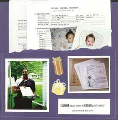 Good tips for how to Create an Adoption Scrapbook for Your Child. I loved making Jaxon's.