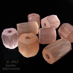 Vintage Russian-cut  rose satin glass pentagon beads 8x7mm.  Package of 12. b11-pp-1068(e)