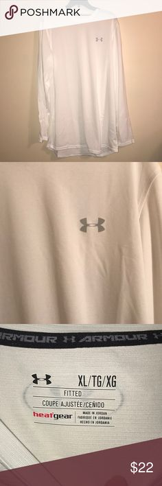 Men's Under Armour Size XL men's long sleeve fitted shirt. Very sold/silky material. New with tags. Was a Christmas present and it is too small for my husband and we can't return. BUNDLE AND SAVE!! Under Armour Shirts Tees - Long Sleeve