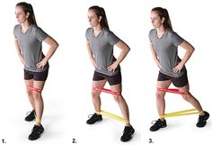 Butt exercises with resistance bands