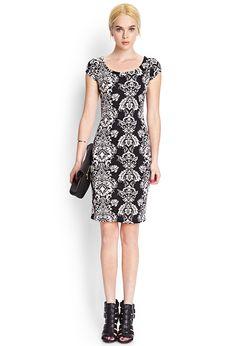 Baroque Midi Dress | FOREVER21 - 2000122983