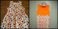 Re-fashion of a flowered dress