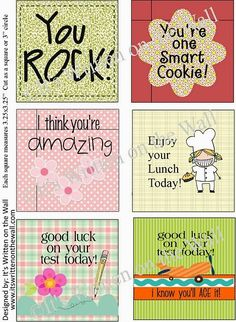 First Day of School printables, picture ideas and lunch box notes!
