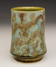 Art on a Cup / The Decorated Yunomi, Samantha Henneke, Bulldog Pottery, Seagrove, North Carolina