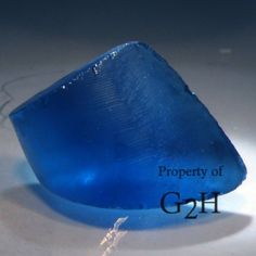 24.95 cts Bright Blue Sapphire Boule, Old Stock Synthetic, Facet Rough (Rare!)