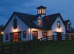 On second thought, who needs a house? Just give me a deluxe barn like this... ;)