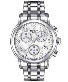 Tissot Watch, Women's Swiss Chronograph Stainless Steel Bracelet 35mm T0502171111200