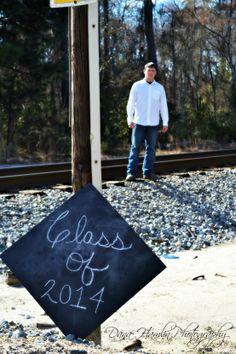 Senior Picture on railroad tracks