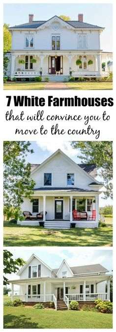 Is there anything prettier than a white farmhouse? Not in my book.
