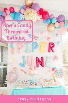 17 Cool And Simple Summer Party Ideas Impress Your guests - 2020 1st Birthday Party For Girls, Birthday Candy, Birthday Party Themes, 11th Birthday, Birthday Ideas, Kids Party Decorations, Kids Party Themes, Party Ideas, Fun Ideas