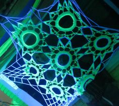 Crocheted blacklight decoration  By Mjanski