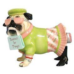 "Pugnacious ""Pennies for Pumps"" Pug Dog Bank"