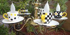 Custom Teacup Chandelier by SublimeAndRidiculous on Etsy, $285.00