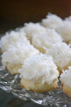 Charming bite sized coconut cookies melt in your mouth!