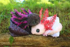 Fully Poseable Baby Axolotls