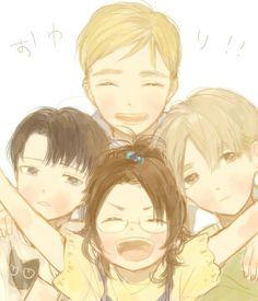 Young Levi, Erwin, Hanji & Mike. Attack on titan. 進撃の巨人. Shingeki no Kyojin. Атака титанов. #SNK. #AOT