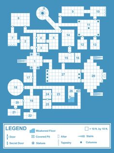 Old School Blue' Dungeon Maps | Creative Commons Licensed Maps ...