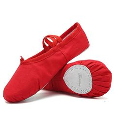 Dancegood Pink Canvas Ballet Dance Shoes Slippers for Women Girls Kids