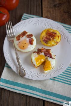 Baked Egg Nests by lexiscleankitchen #Eggs