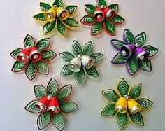 Quilling Paper Christmas Decorations (Set of - Quilled Paper Art Quilling Comb, Paper Quilling Flowers, Neli Quilling, Paper Quilling Jewelry, Paper Quilling Patterns, Quilled Paper Art, Quilling Paper Craft, Paper Crafts, Quilling Christmas