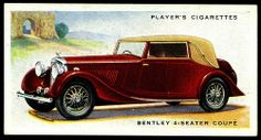 Cigarette Card - Bentley 4 Seater Coupe | Flickr - Photo Sharing!