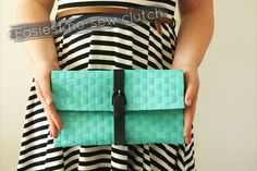 Easy no sew DIY clutch!