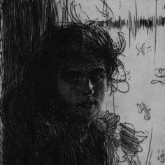 Zorn, Anders - Swedish (1860 - 1920)  An Irish Girl or Annie  Etching, 1894