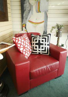 Red Retro Chair Sofa, Couch, Chairs, The Unit, Retro, Furniture, Home Decor, Decoration Home, Room Decor
